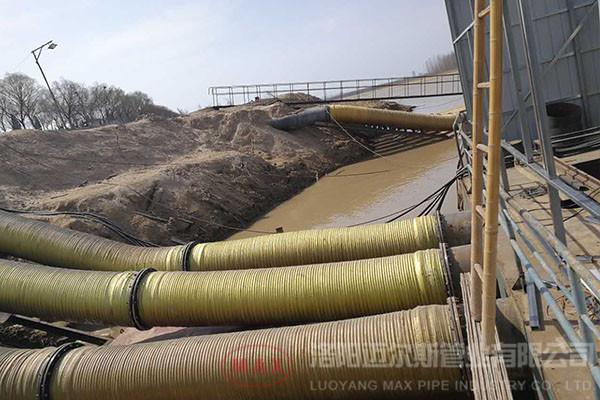 越南500mm橡胶管抽沙项目