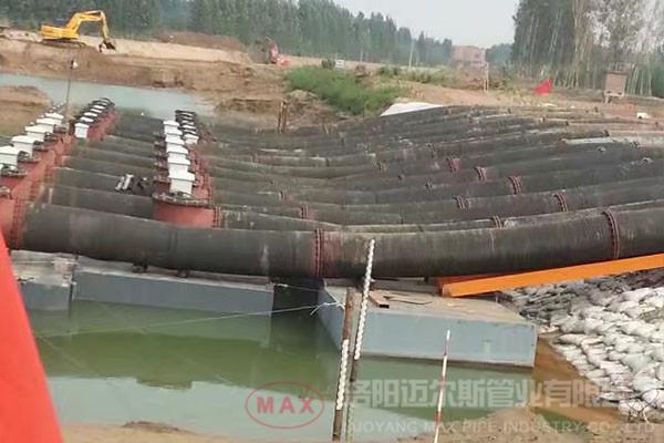缅甸450mm橡胶管输水案例