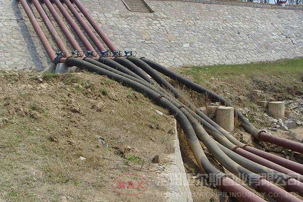国内200mm橡胶管抽水项目